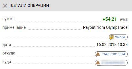 выплата бинарные опционы
